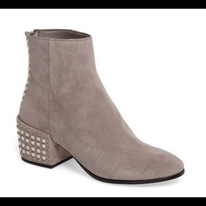 DOLCE VITA Mazey Grey Suede Studded Ankle Bootie